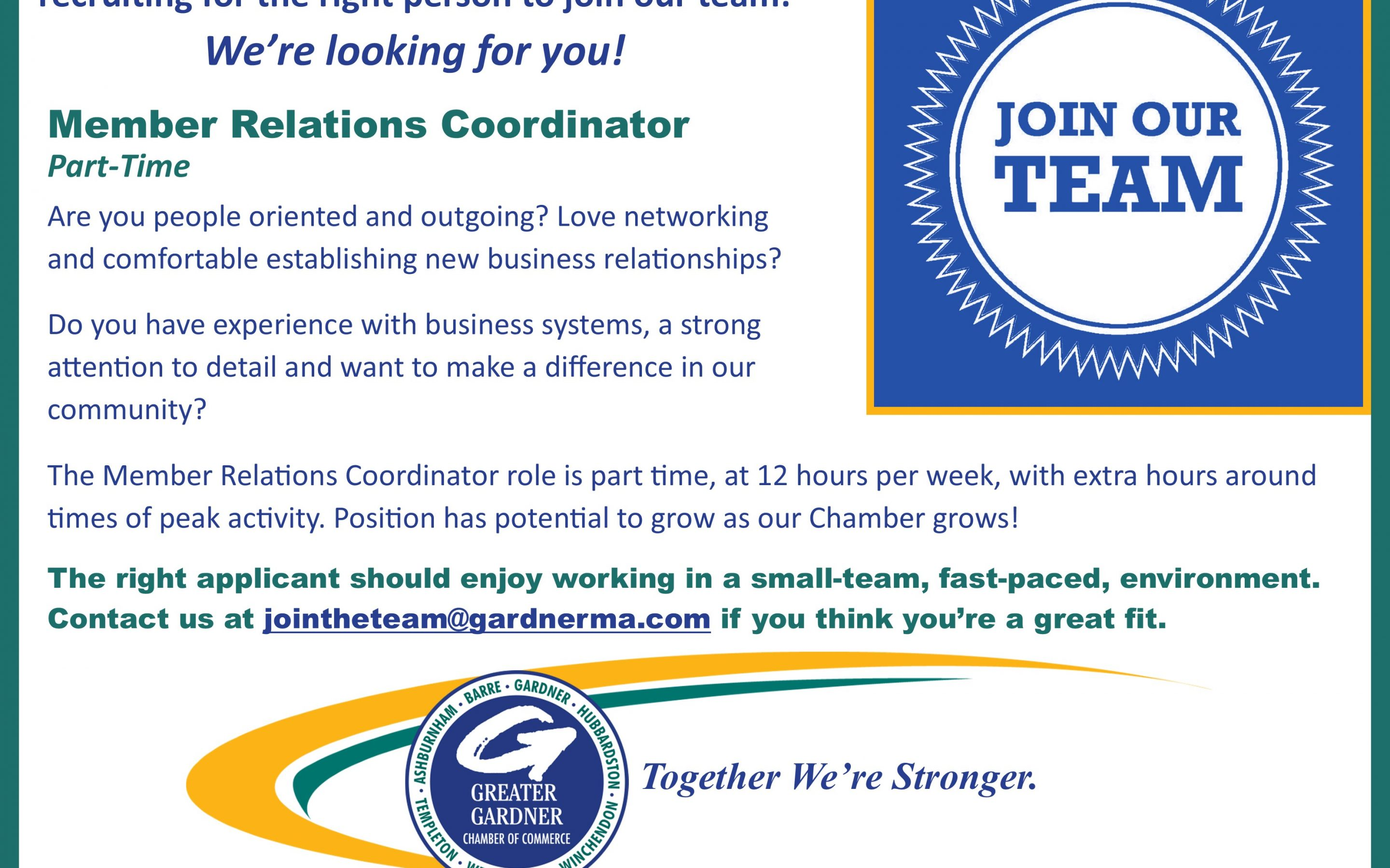 The Chamber is Recruiting!