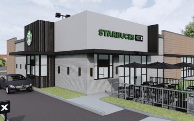 Starbucks Grand Opening and Ribbon Cutting